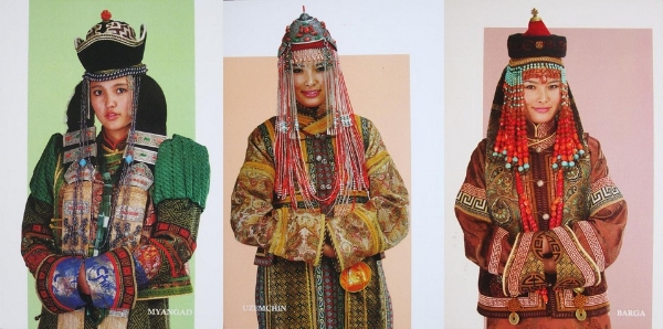 Postcards  with a variety of traditional headdresses