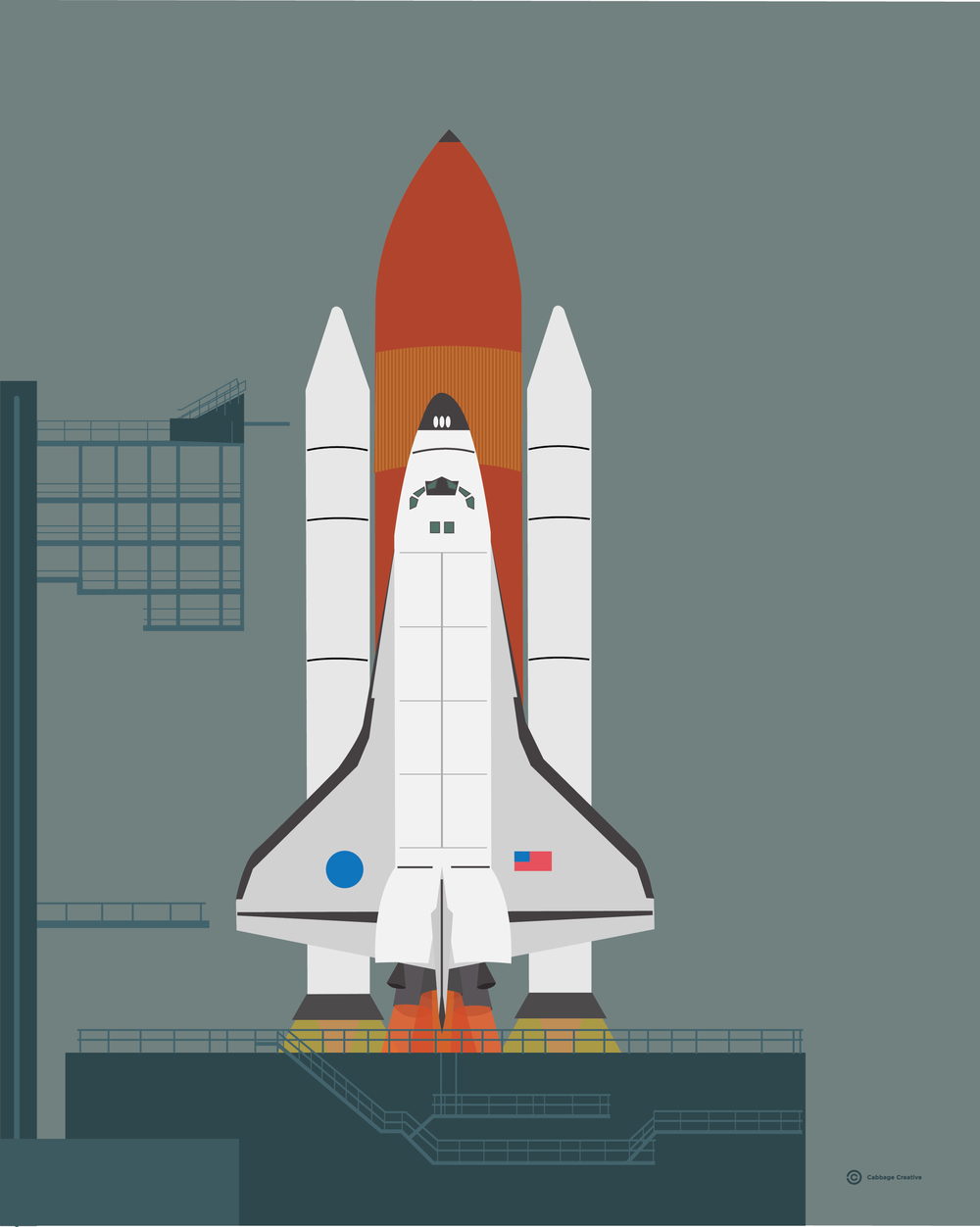 1986:  Space Shuttle Challenger