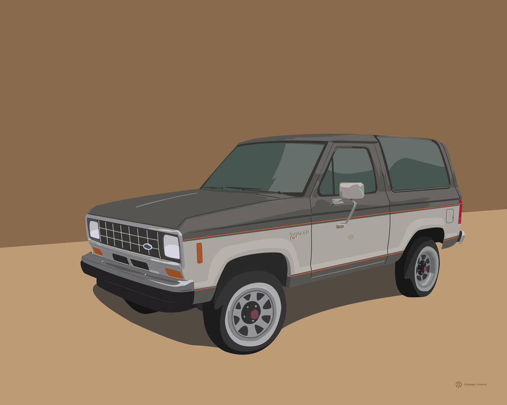 1992:  1986 Ford Bronco II (my first car)