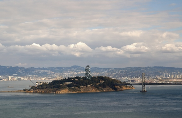Statue of Infinity, Gateway to West,   Conceptual Environment,   San Francisco harbour   Entrance, San Francisco,   275'Hx96'W, Metal Alloy