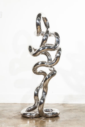Infinite walker X12    Stainless Steel    0.4m (W) x 0.3m (D) x 1.5m (H)   Richard X Zawitz © 2014