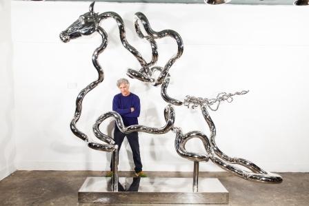 Infinite Horse stainless steel 3M (W) X 0.4M (D) X 2.5M (H) Richard X Zawitz ©2015