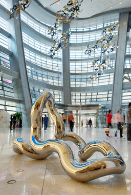 INFINITY Z-28    2011, Jinan Parc 66 Mall, China   5.5' x 10'    Stainless steel