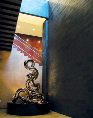 INFINITY 8.30   2010, USC Ronald Tutor Campus Center, California   12'Hx8'W,    stainless steel, granite,