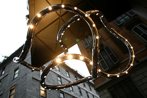 INFINITY LIGHT 2008,Baci Abbracci Flagship Store, Milan 8'Hx8'W aluminum, lighting
