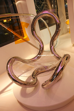 INFINITY ALPHA 4.16 2008,design collaboration with Pierandre Associati Milan 6'Hx4'D, stainless steel, acrylic,