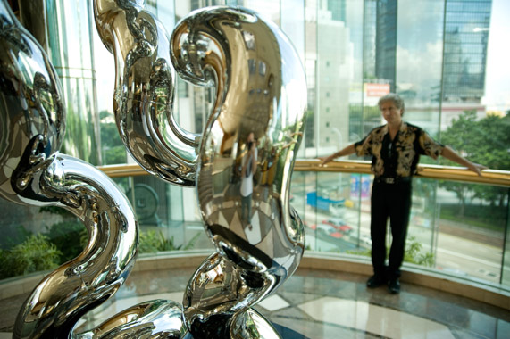 INFINITY 6.34.R9    2009, Hong Kong JW Marriott Hotel   10'Hx48'W,    stainless steel, granite