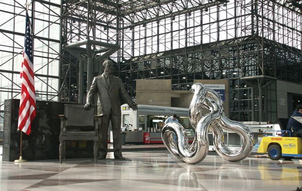 STATUE OF INFINITY 10.20 2004, Jacob Javits Convention Center, New York 10'Hx8'W,  stainless steel