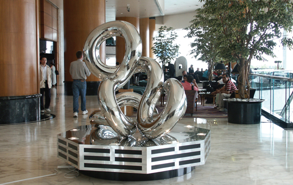 2003,   10'Hx8'W, stainless steel,   Renaissance Harbour View,   Hotel, Hong Kong