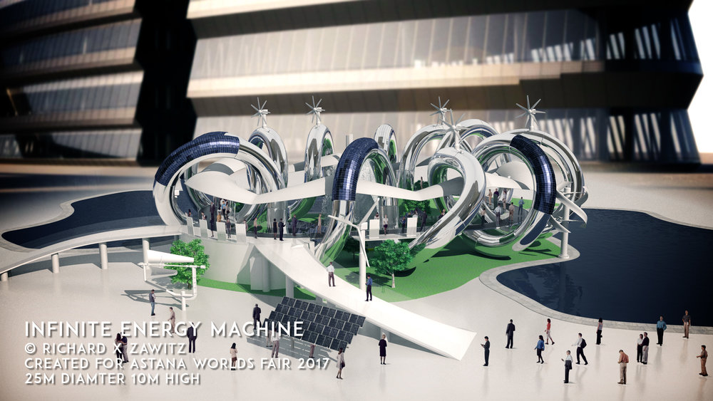 INFINITE ENERGY MACHINE  ASTANA WORLDS FAIR 2017  25M DIAMETER 10M HIGH