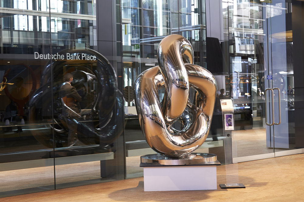 Infinite Trifoil Stainless steel 2M X 2 M X 10 CM placement/ Deutschbank Melbourne Australia