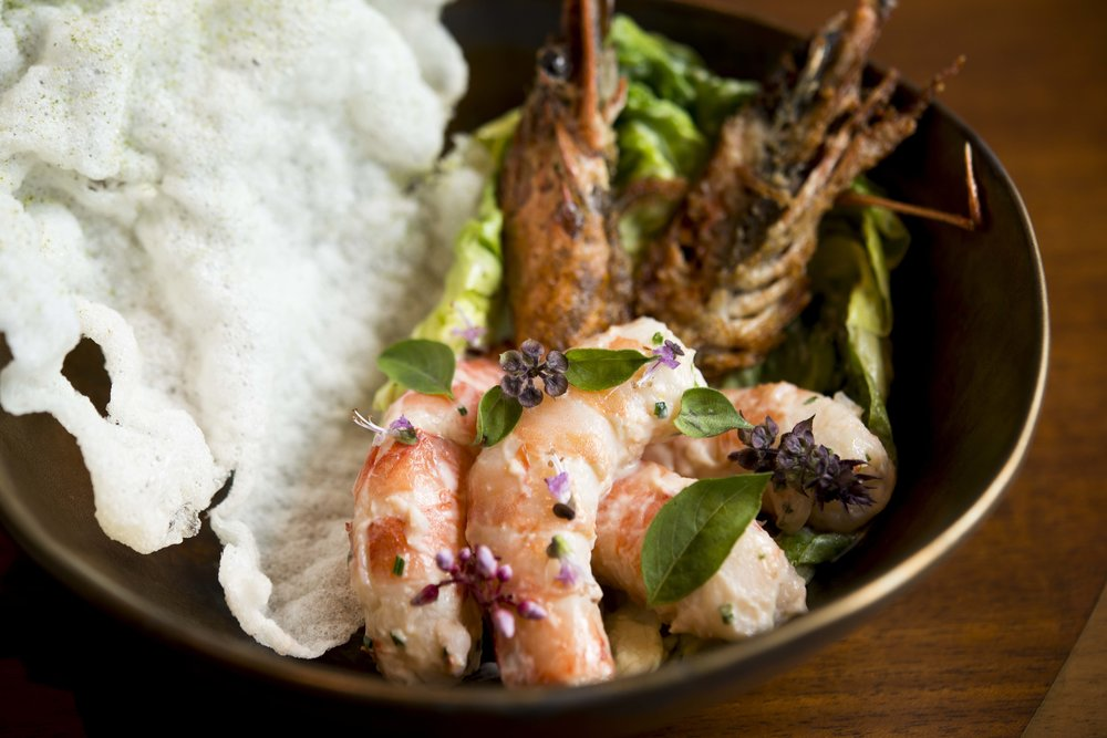 Cold Poached Prawns, Green Curry 150415-12.jpg