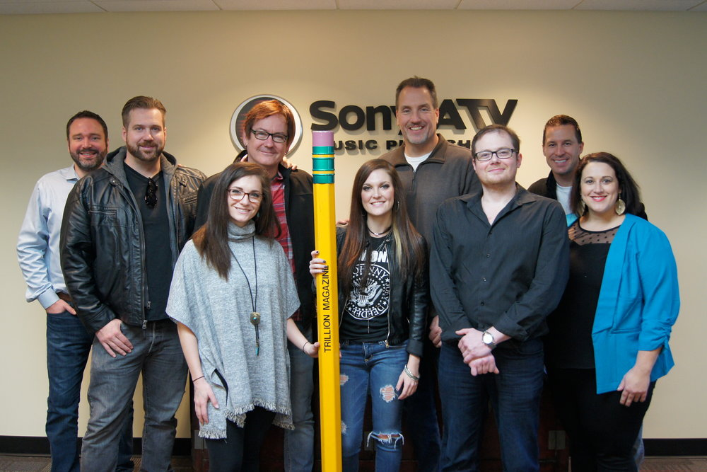 Pictured Left to Right:  Josh Van Valkenburg (Sony ATV), Austin Mullins (WME), Mandelyn Monchick (Deep South Entertainment), Dave Rose (Deep South Entertainment), Kasey Tyndall, Tom Luteran (Sony ATV), Noah McPike (Allmon & McPike PLLC), Brad Peterson (Regions), Kari Barnhart (Regions)