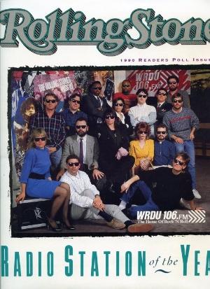 WRDU 106.1FM staff in 1990