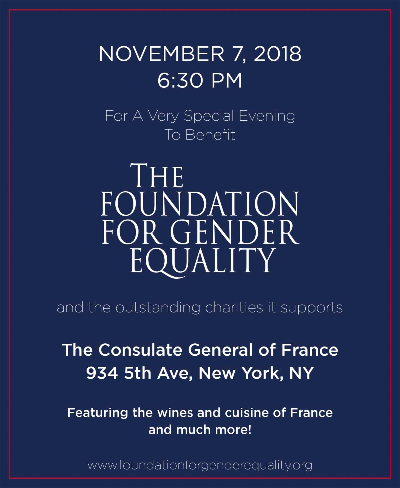 Save the Date: Nov. 7, 2018 For a Very Special Event