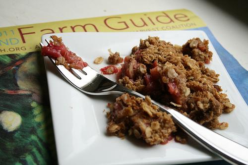 rhubarb crisp www.talkoftomatoes.com