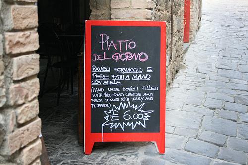 Italian cafe sign