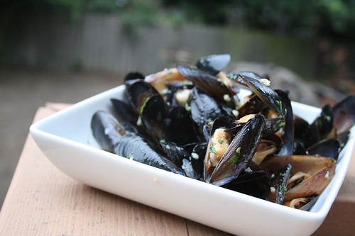 mussels in white wine www.talkoftomatoes.com