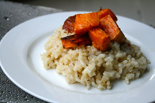 sweet potato risotto www.talkoftomatoes.com