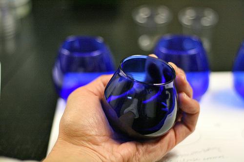 olive oil glassware