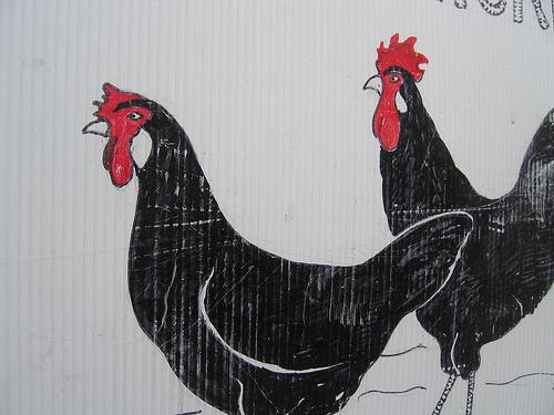 painted chicken www.talkoftomatoes.com