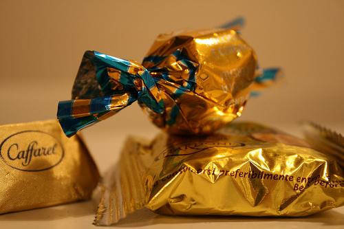 foil wrapped chocolate