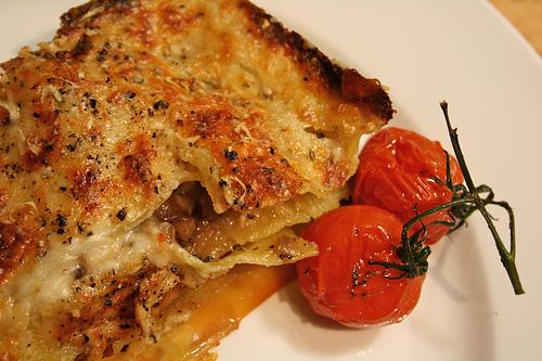 mushroom lasagna www.talkoftomatoes.com