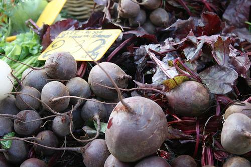 beets at farmer market