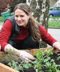 janelle in garden