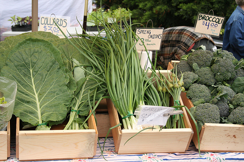 farmer market greens