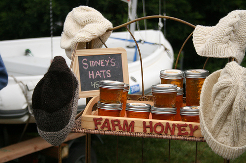 Orcas farmer market honey