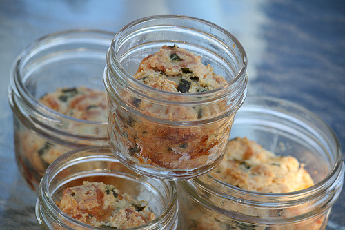 biscuits in jars
