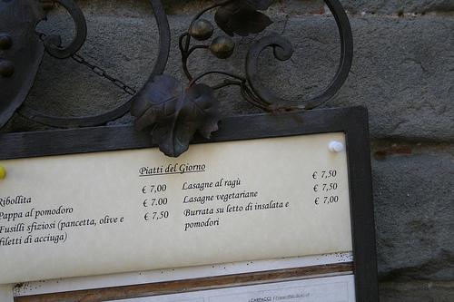 Italian menu www.talkoftomatoes.com