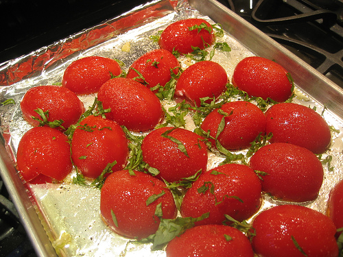 slow roasted tomatoes www.talkoftomatoes.com