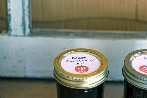 balsamic cherry chutney recipe @talkoftomatoes