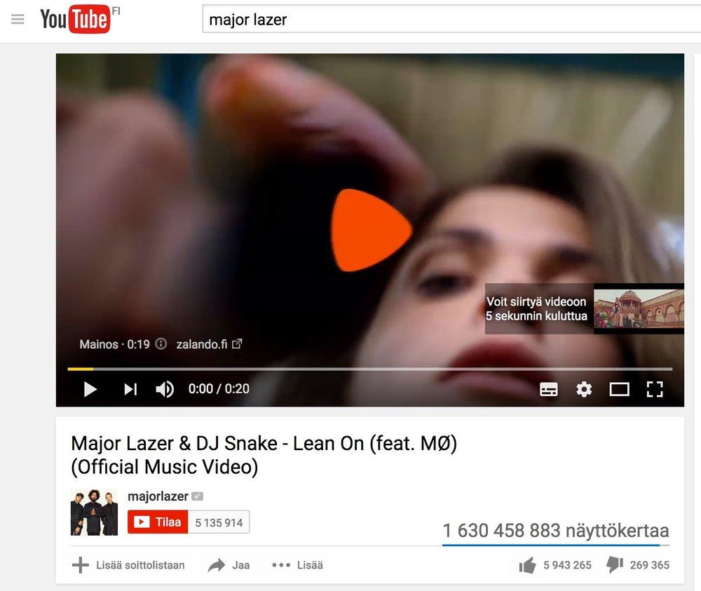 Näkymä videon alussa