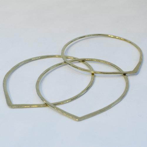 Brass bangle set  click to shop