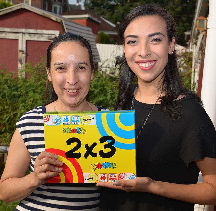 Isabel y Velvet Alvarez Inventoras de Math Game 2x3