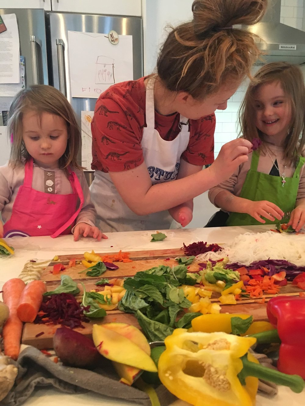 Veggie rainbow fun! -