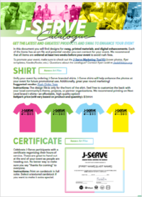 J-Serve Branding/Swag Catalogue