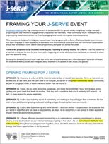 J-Serve 2019 Teen Program Framing Script TEMPLATE