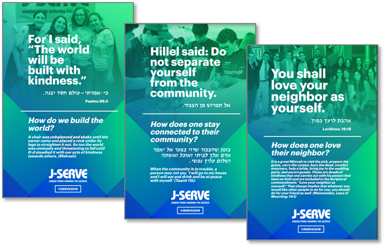 Jewish Values Signage - Gallery Walk Posters    (Onsite Room Decor)