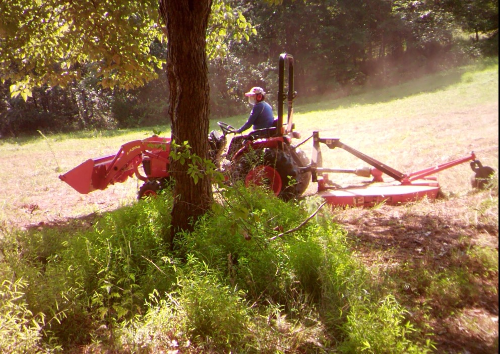 Prepping the field for deer season. If it ever rains we will get a few winter food plots going.