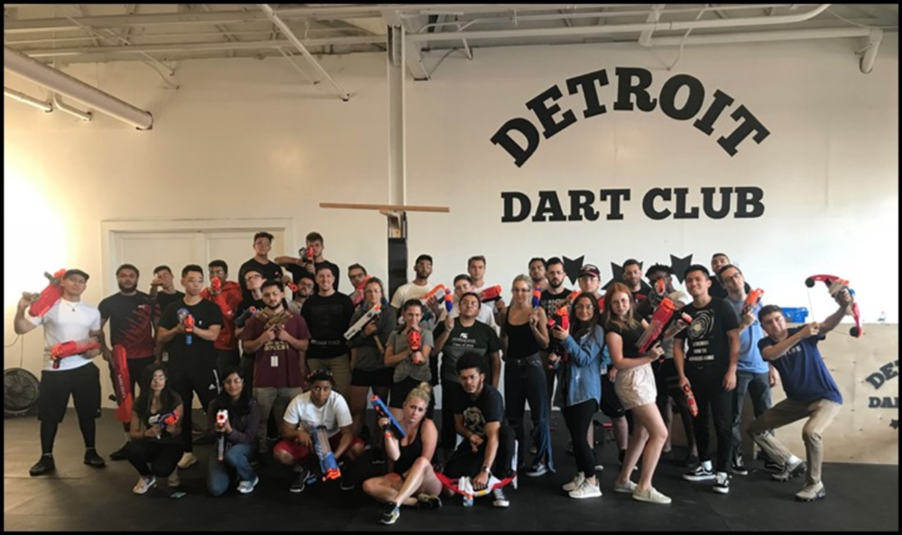 StockX Interns having fun at Detroit Dart Club