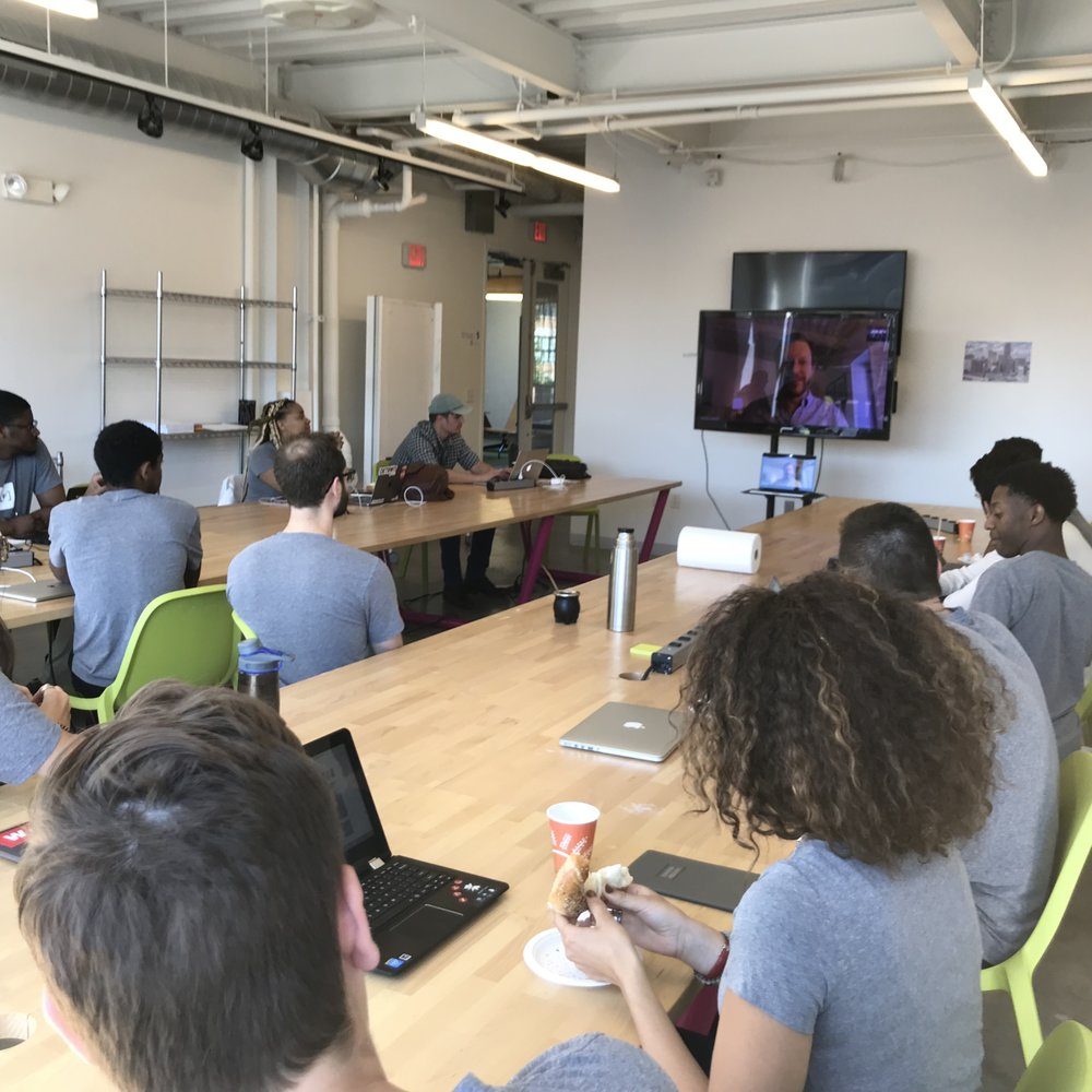 Video Call with Brad Hoos, Executive Director During Day 1 of 2018 Bootcamp