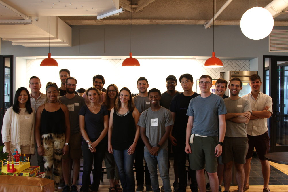 Photo's from Autonomic's training session during the Hacker Fellows 2018 bootcamp.