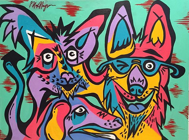 My dogs  4ft x 3ft