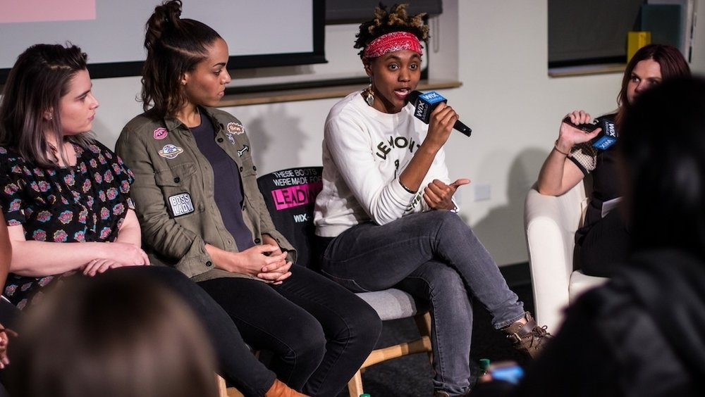 Breaking Gender Barriers - Ebonie featured on Women in Music panel at Wix Lounge in NYC curated by The Digilogue Series, a music and tech education speaker series.