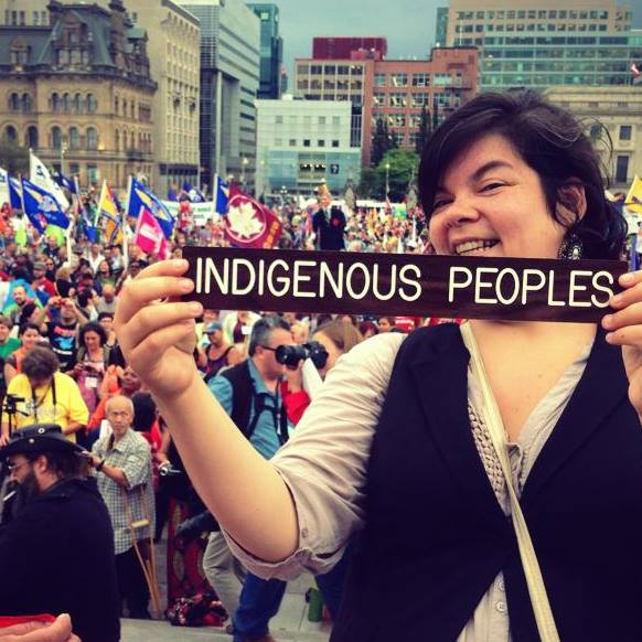Melissa Mollen Dupuis - Melissa Mollen Dupuis is an Innu Nation member from the community of Ekuanitshit on the North-Shore region of Quebec. She has over 15 years of experience in the cultural activities sector with First Nations organizations including the First Nations Garden and more recently Native Montreal. Melissa is engaged with the Native Montreal, she is also the Board President of the Wapikoni and the co-founder of Idle No More Quebec. She has been part of the Indigenous rights movement leaders in Canada that have been honoured with Amnesty International's Ambassador of Conscience Award for 2017. She is now the Boreal campaigner for the David Suzuki Foundation in Québec.