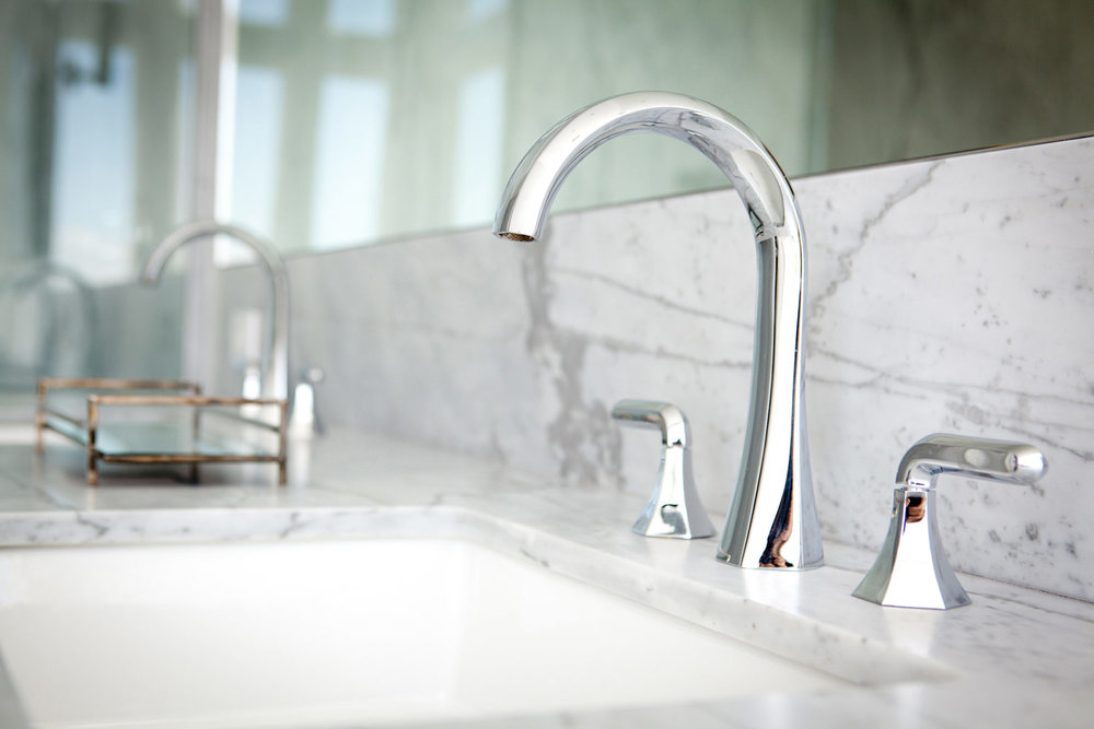bathroom sink, bathroom counter tops, polished chrome, faucet, simple faucet, modern faucer, marble counter top